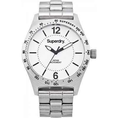 Ladies Superdry Infantry Steel Watch - 5024693102983