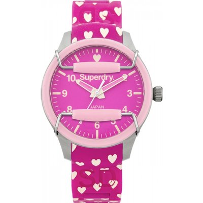 Ladies Superdry Scuba Heart Watch - 5024693114702