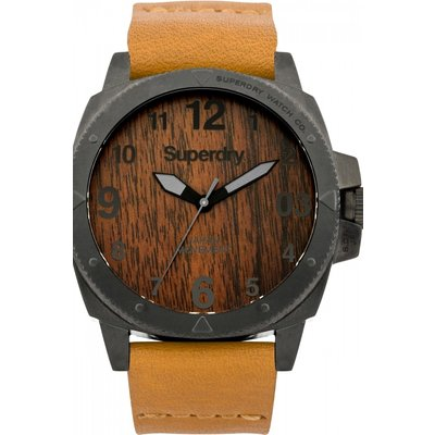 Mens Superdry Trident Wood Watch - 5024693120390