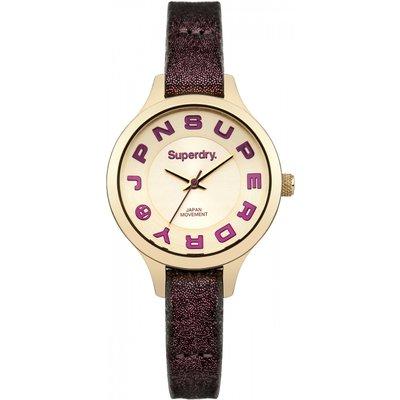 Ladies Superdry Skinny Metallic Watch - 5024693120543
