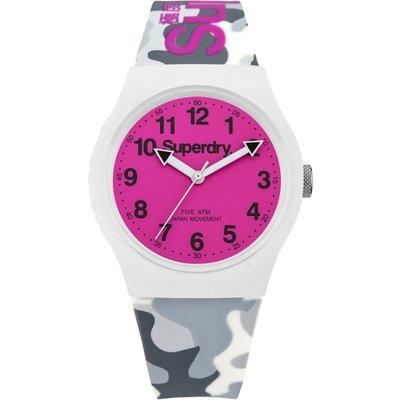 Superdry Unisex Urban Silicone Strap Watch - 5024693126026