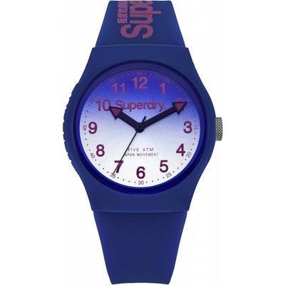 Superdry Unisex Urban Laser Silicone Strap Watch - 5024693136988