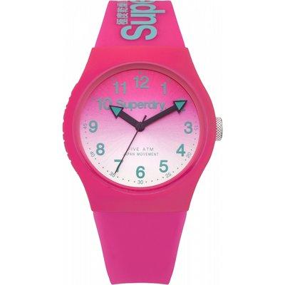 Superdry SYL198PN Women s Urban Laser Silicone Strap Watch  Hot Pink - 5024693136995