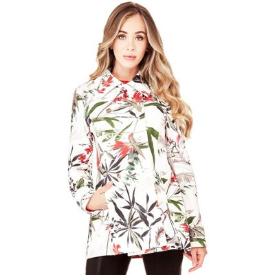 Marciano Guess Marciano Double-Breasted Coat Flowers