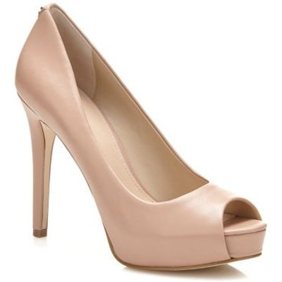 Guess Hadi Leather Open-Toe Court Shoe