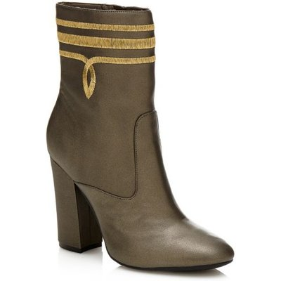 Guess Lucablu Laminated Leather Ankle Boot