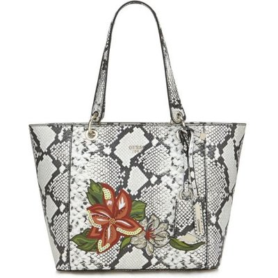 Guess Kamryn Python Print Bag, Grey