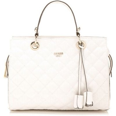 Guess Seraphina Quilted-Look Bag, White