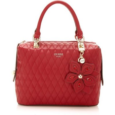 Guess Sibyl Quilted-Look Handbag, Red