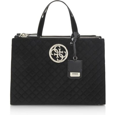 Guess G Lux Quilted-Look Bag, Black