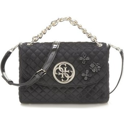Guess G Lux Quilted-Look Crossbody Bag, Black