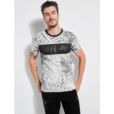 Guess Nature Print Stripe T-Shirt