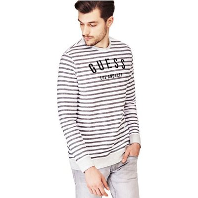 Guess Striped Sweatshirt With Logo
