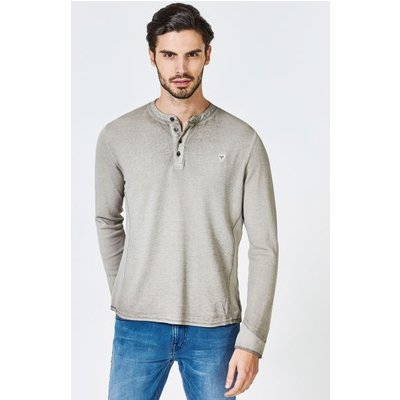 Guess Long-Sleeve T-Shirt With Buttons
