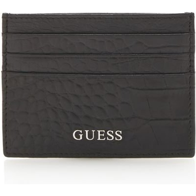 Guess Rocky Crown Croc Leather Card Holder - 7613366414638
