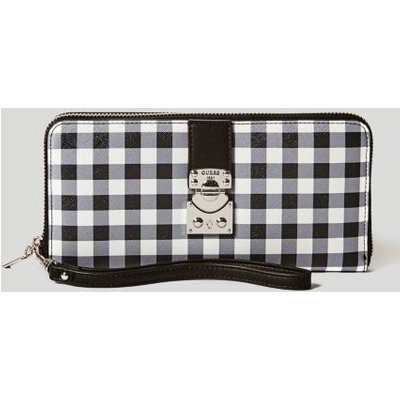 Guess Britta Check Motif Wallet