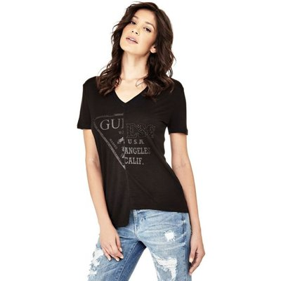 Guess Asymmetric Logo T-Shirt