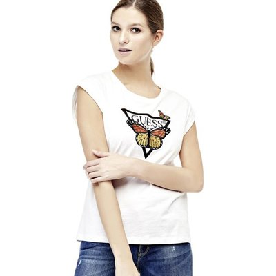 Guess Printed T-Shirt With Embroidery