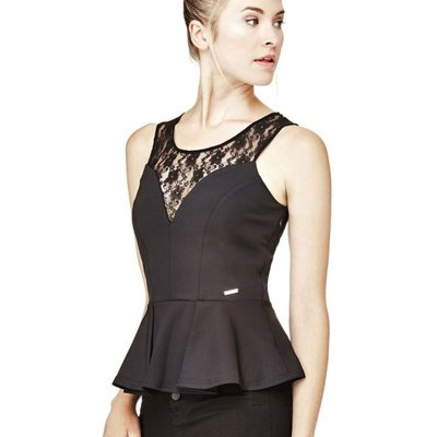 Guess Lace Peplum Top