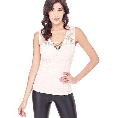 Guess Lace Top With Ties