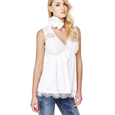 Guess Top With Lace Details