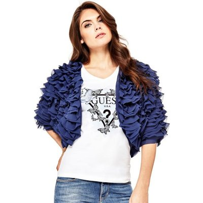 Guess Bolero Jacket With Ruches - 7613388634359