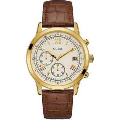 Guess Leather Chronograph Watch - 091661476990
