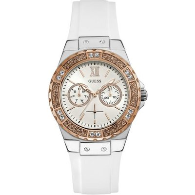 Guess Silicone Watch Rhinestones