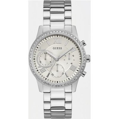 Guess Stainless Steel Rhinestone Watch