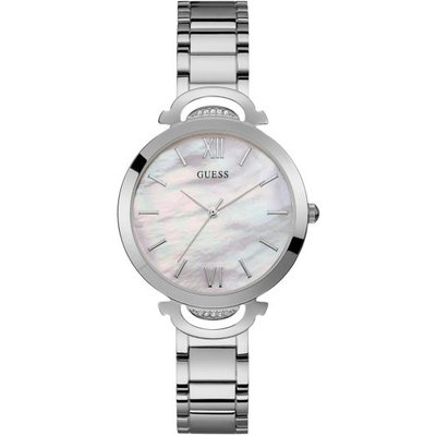 Guess Stainless Steel Analogue Watch, Silver