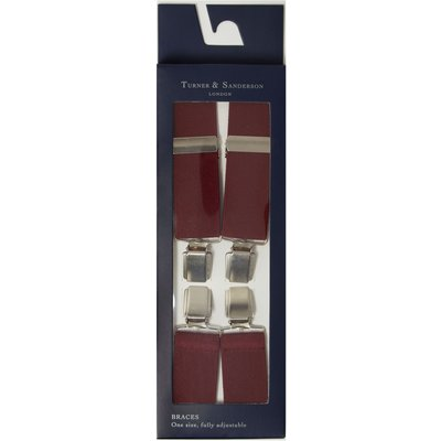 Turner & Sanderson Plain elasticated braces, Red
