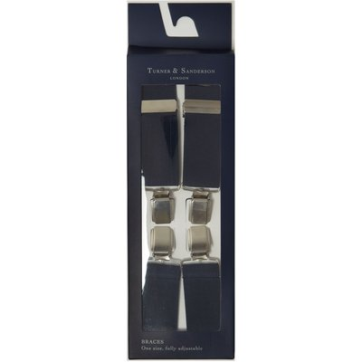 Turner & Sanderson Plain elasticated braces, Blue