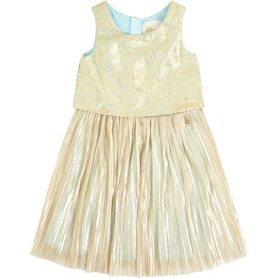 Disney The Boutique Collection Girls Jasmine Pleated Jacquard, Gold