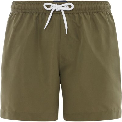Men's Criminal Plain Swim Shorts, Khaki