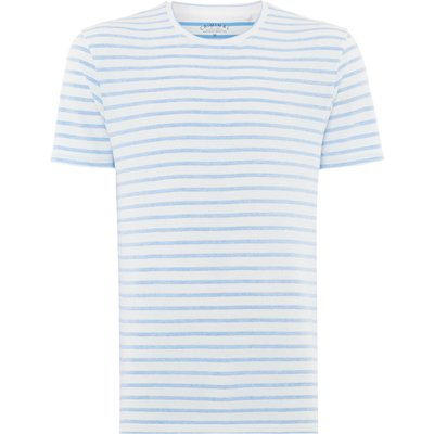 Men's Criminal Reverse stripe Tshirt, Blue