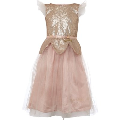 Disney The Boutique Collection Girls Tinker Bell Sequin Tulle Dress, Pink