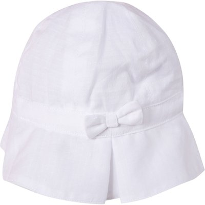 Absorba Girls Cotton Voile Hat, White
