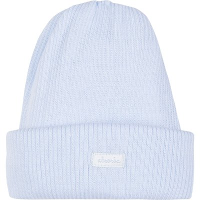 Absorba Newborn Cotton Tubular Hat, Light Blue