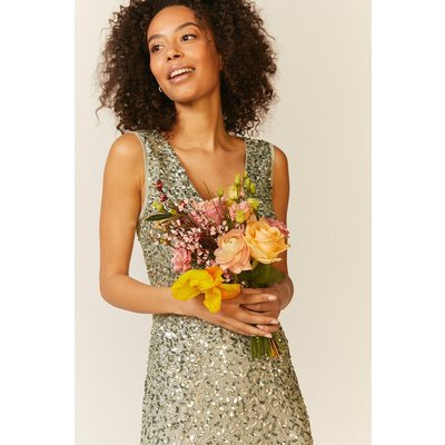 Coast Sequin Split Skirt Maxi Dress -, Sage