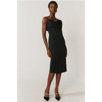 Coast Seam Bandeau Dress -, Black