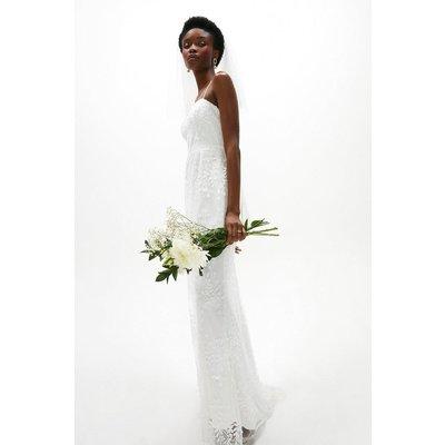 Coast Embroidered Cami Maxi Dress -, White
