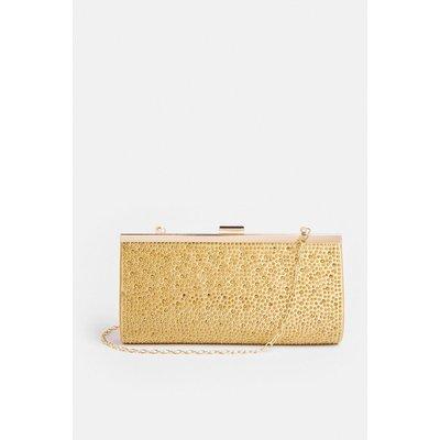 Coast Jewel Detail Clutch Bag -, Gold