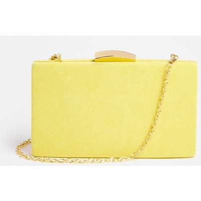 Coast Rectangle Clasp Fastening Clutch Bag -, Yellow