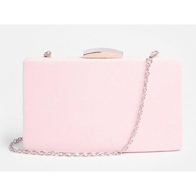 Coast Rectangle Clasp Fastening Clutch Bag -, Pink