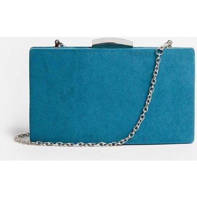 Coast Rectangle Clasp Fastening Clutch Bag -, Blue