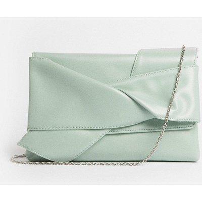 Coast Tie Detail Clutch Bag - Mint, Green