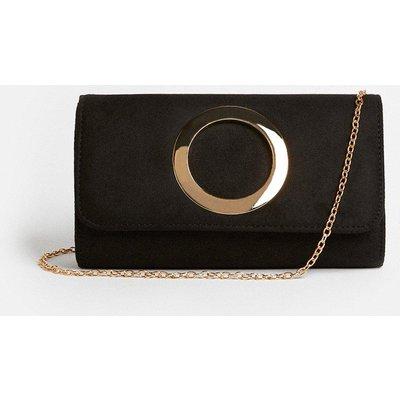 Coast Metal Ring Detail Clutch Bag -, Black