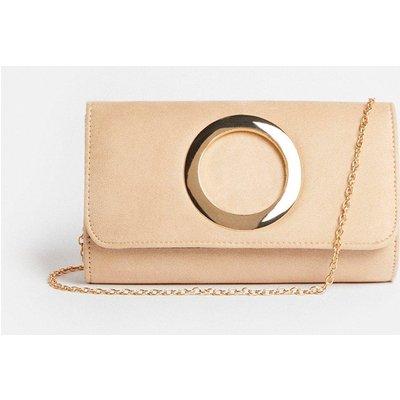 Coast Metal Ring Detail Clutch Bag -, Sand