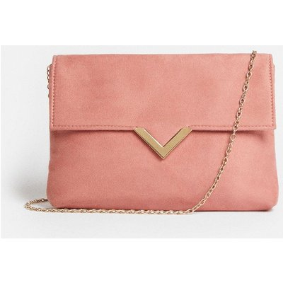 Coast Clutch Bag With Metal Trim Detail -, Pink