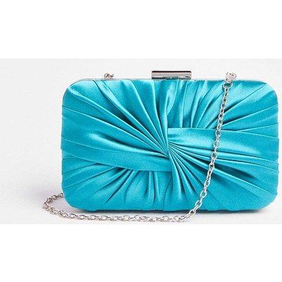 Coast Satin Detail Clutch Bag -, Blue